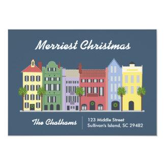 Tarjeta de Charleston Carolina del Sur de la fila Invitación 12,7 X 17,8 Cm
