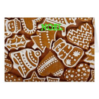 Tarjeta de Chrismas de la galleta del pan de