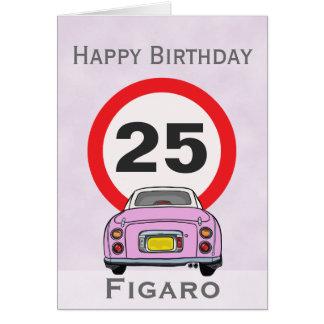 Tarjeta de coche de Figaro del rosa del caramelo