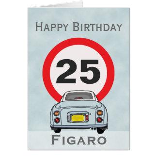 Tarjeta de coche pálida de Figaro de la aguamarina