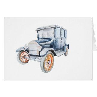 Tarjeta de coche vieja del vintage
