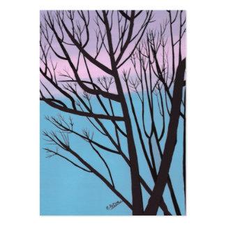 Tarjeta de comercio del artista del árbol de la tarjetas de visita grandes