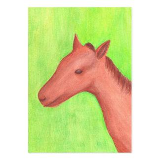 Tarjeta de comercio joven del artista del caballo tarjeta personal