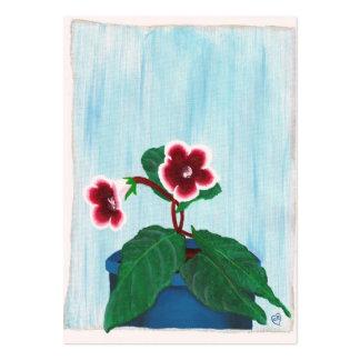 Tarjeta de comercio Potted del artista de la flor Tarjetas De Visita Grandes