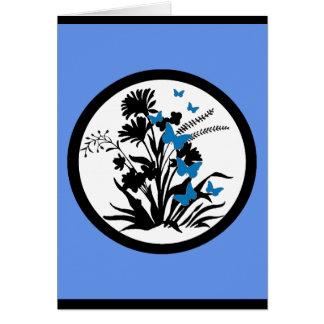 Tarjeta de condolencia adaptable de la flor blanca