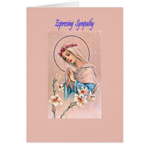 Tarjeta de condolencia católica