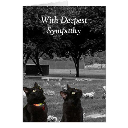 Tarjeta de condolencia con los gatos negros