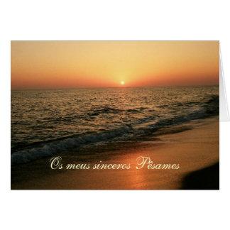 Tarjeta de condolencia/condolencias portugueses: P