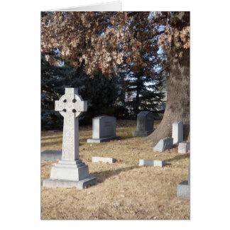 Tarjeta de condolencia de la cruz céltica