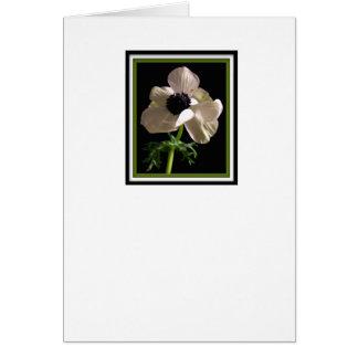 Tarjeta de condolencia de la flor