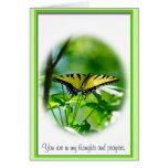 Tarjeta de condolencia de la mariposa