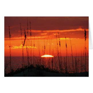 tarjeta de condolencia de la playa de la puesta