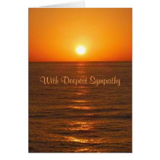 Tarjeta de condolencia de la puesta del sol del