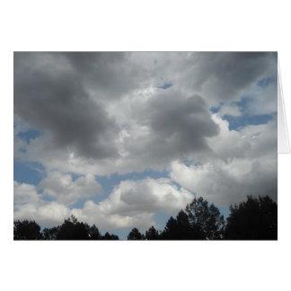 Tarjeta de condolencia de las nubes