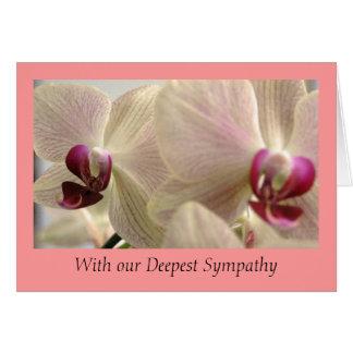 Tarjeta de condolencia de las orquídeas