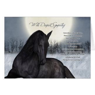 Tarjeta de condolencia del caballo del mascota,