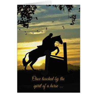 Tarjeta de condolencia del caballo del puente del
