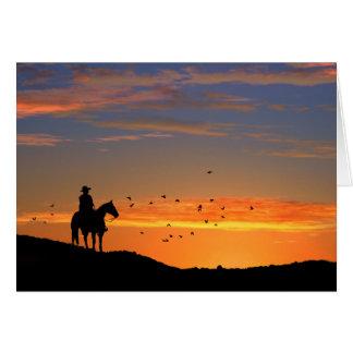 Tarjeta de condolencia del caballo del vaquero