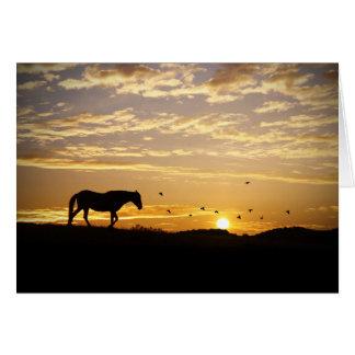 Tarjeta de condolencia del caballo y de los