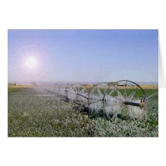 Tarjeta de condolencia del campo de granja