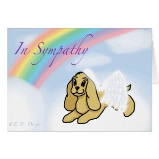 Tarjeta de condolencia del mascota