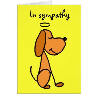 Tarjeta de condolencia del mascota AB