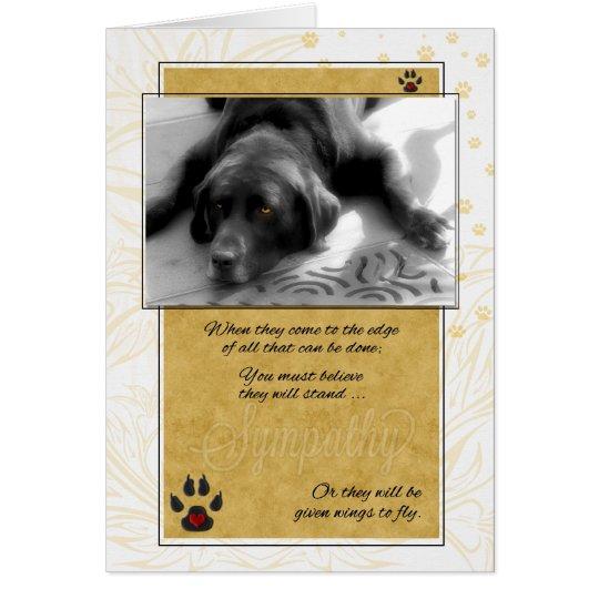 Tarjeta de condolencia del mascota del perro de