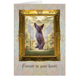 Tarjeta de condolencia del mascota para siempre en