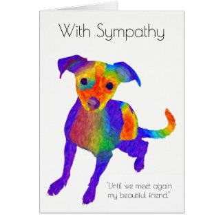 Tarjeta de condolencia del perro casero