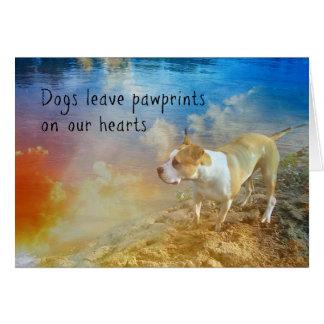 Tarjeta de condolencia del perro - los perros
