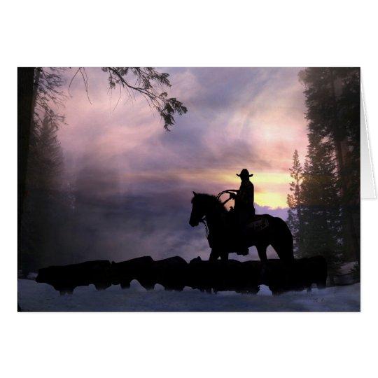 Tarjeta de condolencia del vaquero