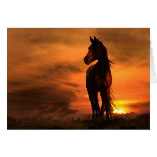 Tarjeta de condolencia equina del caballo