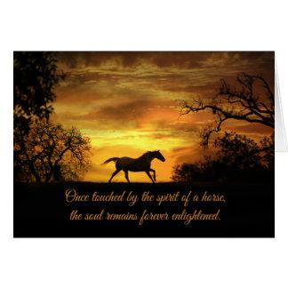 Tarjeta de condolencia espiritual del caballo con
