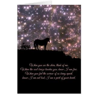 Tarjeta de condolencia espiritual del poema del
