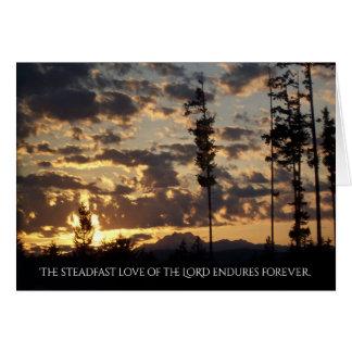 Tarjeta de condolencia firme de la puesta del sol