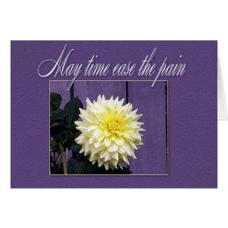 Tarjeta de condolencia floral simple