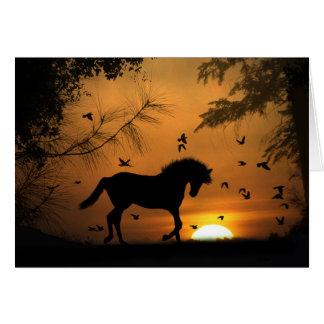 Tarjeta de condolencia hermosa del caballo