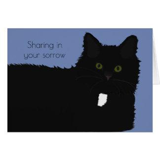 Tarjeta de condolencia larga del mascota del gato