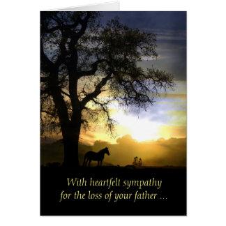 Tarjeta de condolencia para la pérdida de padre/de