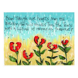 Tarjeta de condolencia pensativa y creativa postales