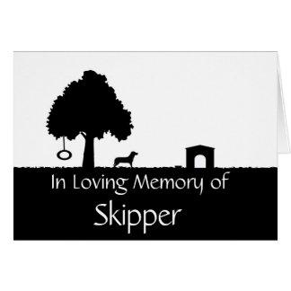 Tarjeta de condolencia personalizada de la pérdida