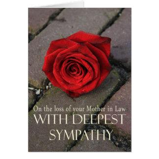 Tarjeta de condolencia subió pérdida de la suegra