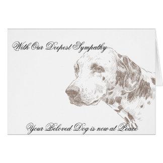 Tarjeta de condolencia veterinaria para el dueño