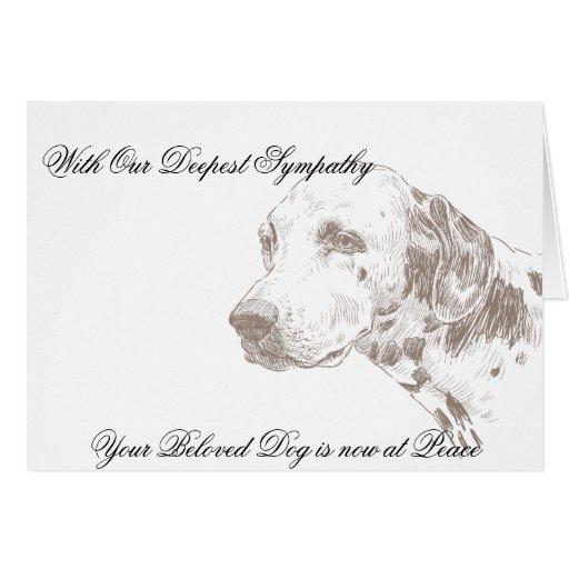 Tarjeta de condolencia veterinaria para el dueño d