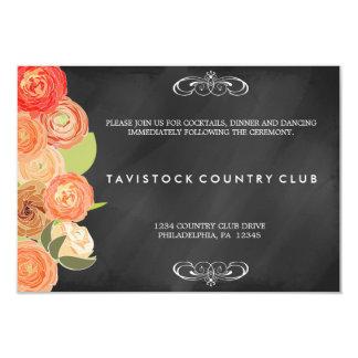 Tarjeta de conexión en cascada de la recepción de invitación 8,9 x 12,7 cm