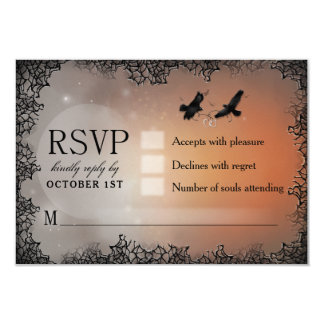 Tarjeta de contestación a juego de Halloween RSVP