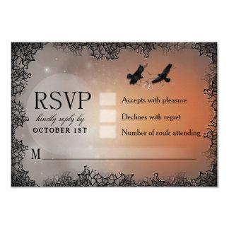 Tarjeta de contestación a juego de Halloween RSVP Invitación 8,9 X 12,7 Cm