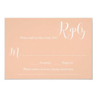 Tarjeta de contestación coralina del boda invitación 8,9 x 12,7 cm