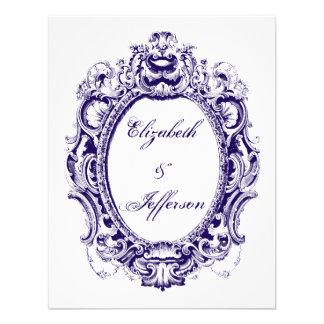 Tarjeta de contestación del boda del marco del vin invitación personalizada