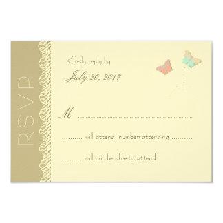 Tarjeta de contestación del boda del verano de la invitación 8,9 x 12,7 cm